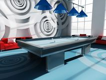 Billiard room Royalty Free Stock Photography