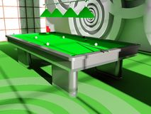 Billiard room Stock Photo