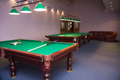 Billiard room Royalty Free Stock Images