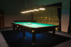 Billiard room with. Interior of the  billiard room with Stock Photos