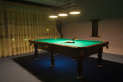 Billiard room with. Interior of the  billiard room with Stock Images
