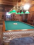 Billiard room Ex president of Ukraine royalty free stock photography