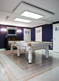 Billiard room interior in a new mansion Royalty Free Stock Photos