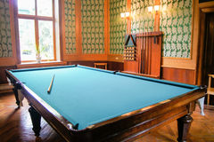 Billiard Room at Stalin`s dacha. Royalty Free Stock Photography