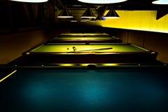 Billiard saloon. Billiard tables inside of billiard saloon Stock Images