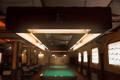 Billiard saloon Royalty Free Stock Photo
