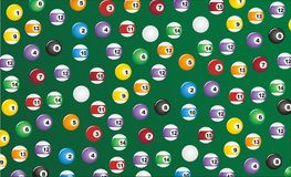 Billiard seamless pattern Stock Photos