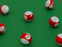 Billiard set 1 Royalty Free Stock Photos