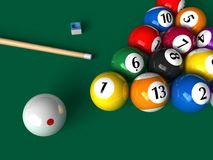 Billiard set Stock Photo