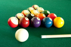 Billiard set Royalty Free Stock Photo