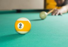 Billiard shot Royalty Free Stock Images