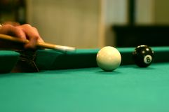 Billiard shot. Speed billiard shot detail Royalty Free Stock Images