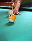 Billiard shot Stock Photo