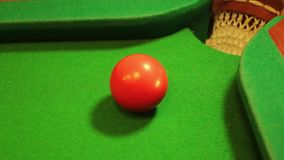 Billiard shot fail stock footage