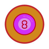 Billiard. Simple icon wit color ball of billiard royalty free illustration