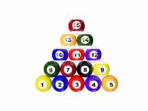 Billiard spheres Stock Image
