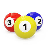 Billiard spheres Royalty Free Stock Photography