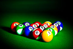 Billiard spheres Stock Photo