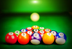 Billiard spheres Royalty Free Stock Images
