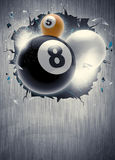Billiard sport background. Abstract billiard invitation poster or flyer background with empty space royalty free illustration