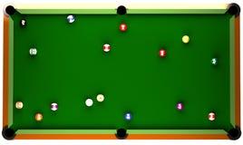 Billiard-Tabelle. Lizenzfreie Stockfotos