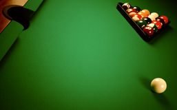 On a billiard table Royalty Free Stock Image