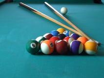 Billiard table_2. Billiard table with billiard's balls, game stock photos