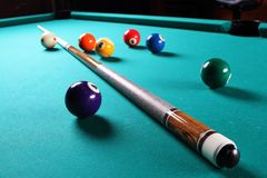 Billiard table. royalty free stock photos