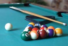 Billiard table_3. Billiard table with billiard's balls royalty free stock image