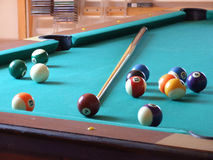 Billiard table_6. Billiard table with billiard's balls stock images