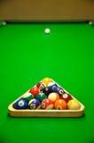 Billiard table and balls Stock Image