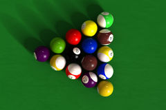Billiard table with balls Stock Photo