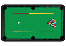Billiard table with balls Stock Images