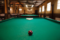 Billiard table. With balls prepared for play Stock Images