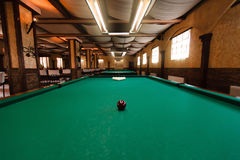 Billiard table. With balls prepared for play Royalty Free Stock Photography