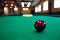 Billiard table. With balls prepared for play Royalty Free Stock Image