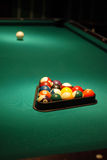 Billiard-table befor game Royalty Free Stock Images