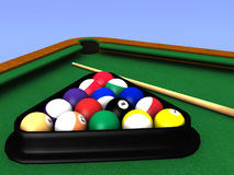 Billiard table closeup Stock Photos