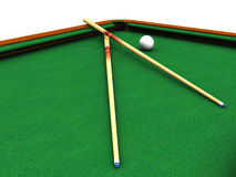 Billiard table closeup Stock Photo