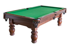 Billiard table cutout. Empty billiard table isolated on white with clipping path Stock Photo