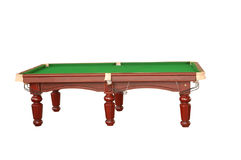Billiard table cutout. Empty billiard table isolated on white with clipping path Royalty Free Stock Image