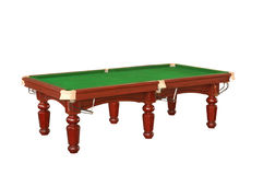 Billiard table cutout Stock Image