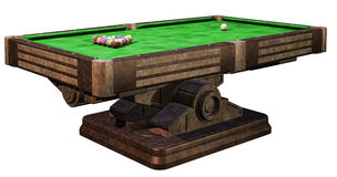 Billiard table. 3D render of a billiard table Stock Photography