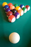 Billiard-table with fifteen balls. Arranged as triangle Stock Image
