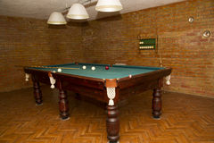 Billiard table in the house Stock Image