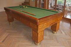 Billiard table in the house Royalty Free Stock Photo