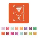 The billiard table icon. Game symbol. Flat. Vector illustration. Button Set vector illustration