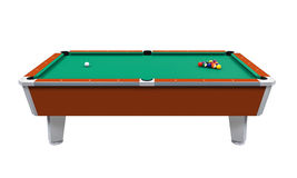 Billiard Table Isolated Royalty Free Stock Images