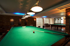 Billiard table in a night club Royalty Free Stock Image