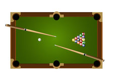 Billiard Table Set 2. Its contained pool table, balls and cue Royalty Free Stock Photos